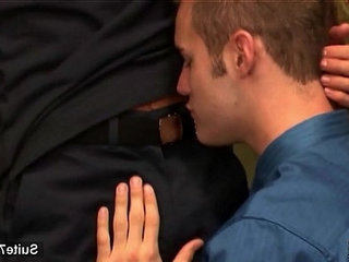 Sexual queers screwing butts in the office