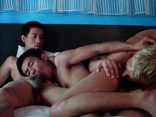 Asian and European nakedback