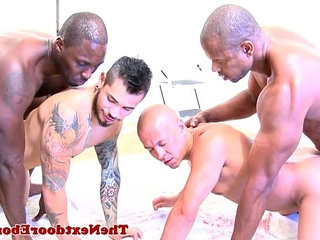 Interracial hunks xxx grouphookup fun