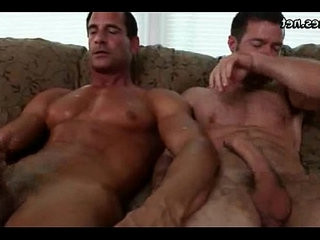 Muscle gay fucking his boyfriend on the floor