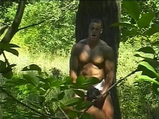 Spicy hard bodied muscled studs pounding ass crevices in the woods